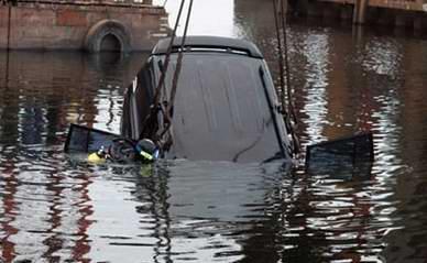 Если автомобиль оказался в воде